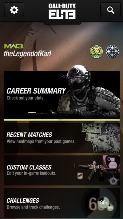 Call of Duty Elite finally accessible via an iPhone app