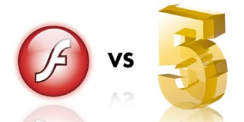 HTML5 versus Adobe Flash (infographic)
