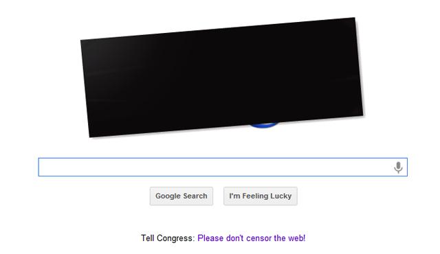 Google SOPA protest