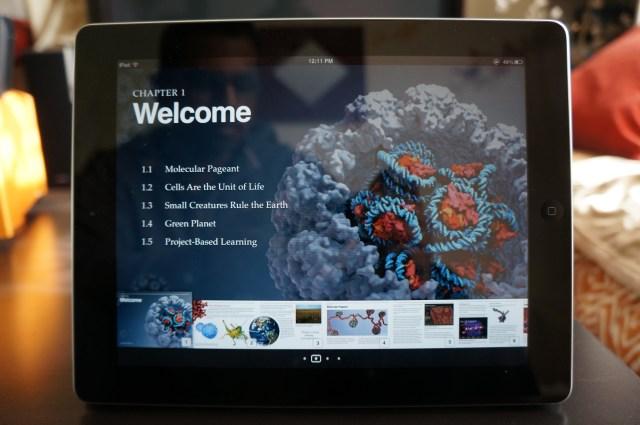 iBooks 2 textbook on an iPad