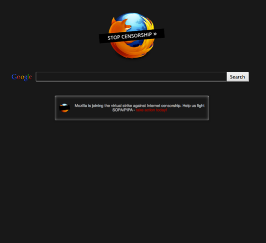 sopa blackouts and protests go live gallery of screenshots