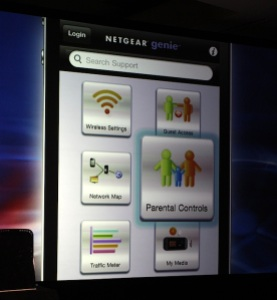 Netgear's Genie app provides access to parental controls and other network features.