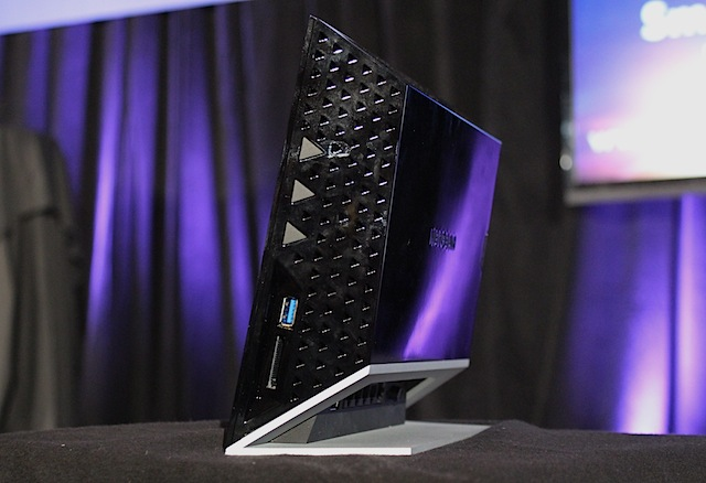 Netgear's Media Storage Router has a cool, angular look that's new for the company.