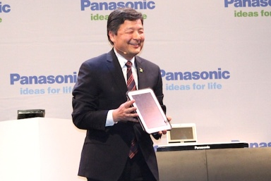 Panasonic is upgrading and extending its Toughbook line, shown here by Shiro Kitajima