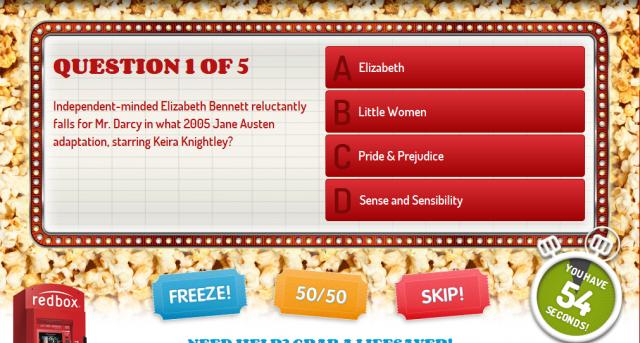 Redbox Movie Trivia2