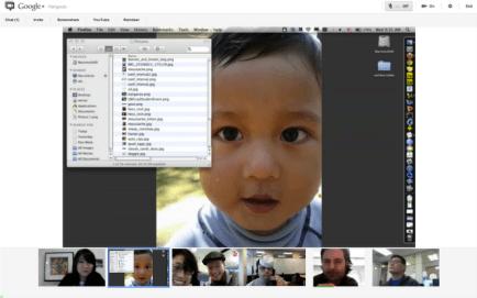Google+ Hangouts Screen Share