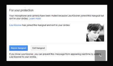 Google+ Hangouts Privacy