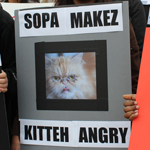 Silicon Valley luminaries protest SOPA in downtown San Francisco