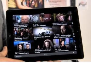 Touch TV app running on an iPad