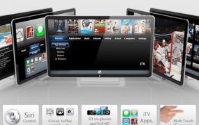 Apple iTV mockup by Guilherme Schasiepen
