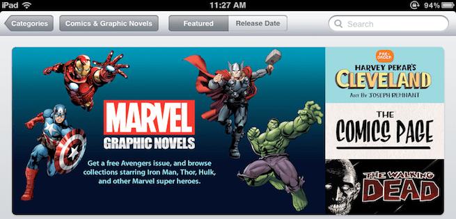 iBookstore, Graphic Novels