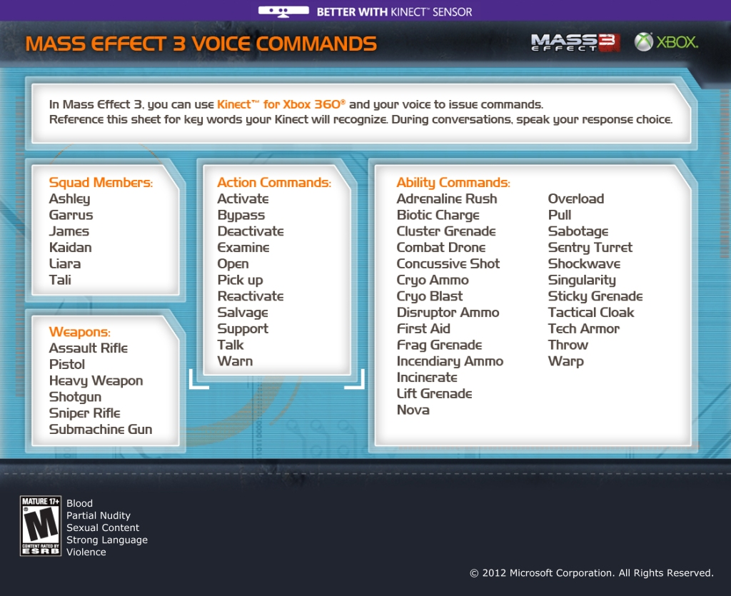 Check out this printable Mass Effect 3 voice command
