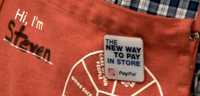 PayPal store checkout arriving at 2K Home Depot stores in 2