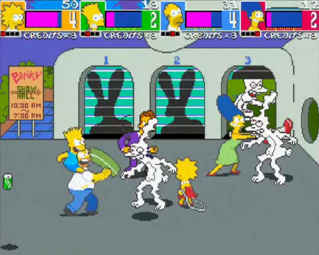 The Simpsons Arcade on Xbox