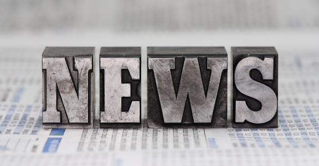 "The word ""news"" set in metal type"