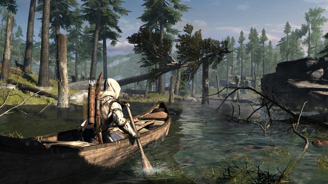 Assassin's Creed 3_Frontier_Canoe