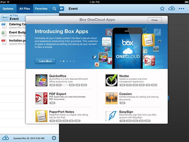 Box-OneCloud-iPad
