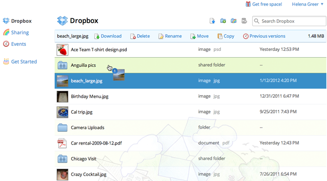 Dropbox redesign adds action bar, photo viewer, and more ...