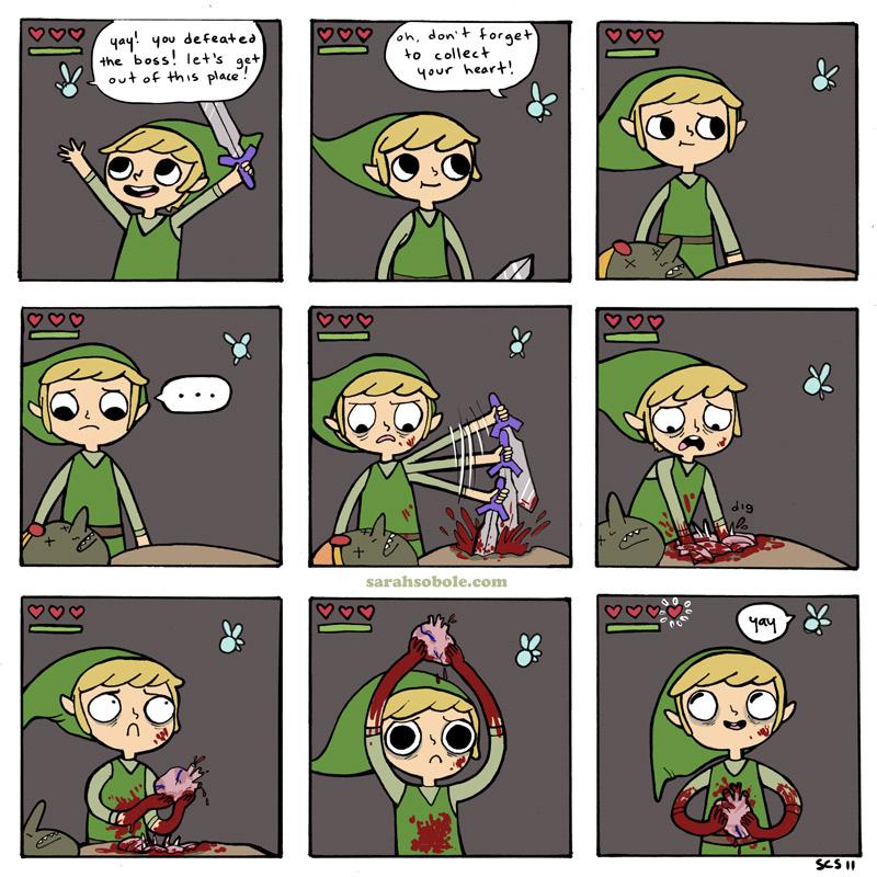 The Legend of Zelda - hearts by dalia