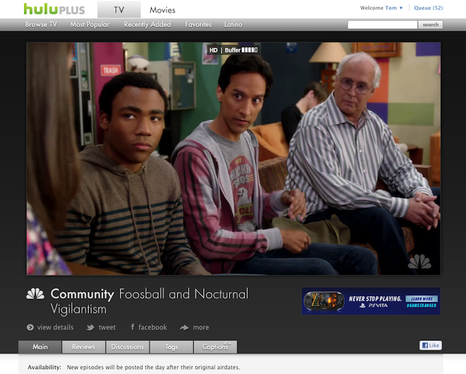 Hulu's bigger video player