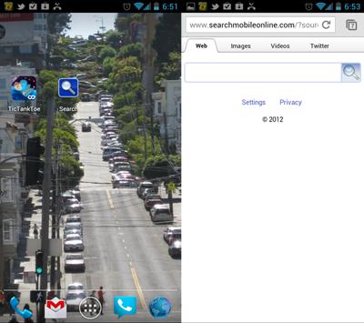 StartApp proprietary search application