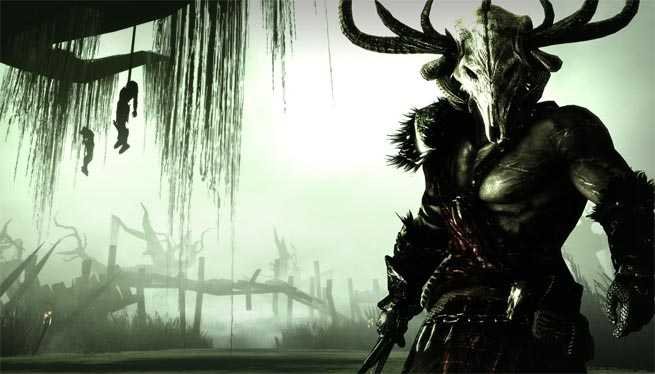 Crom, the hero of Climax Group's Bloodforge for Xbox 360