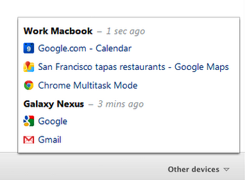 chrome other devices tabs