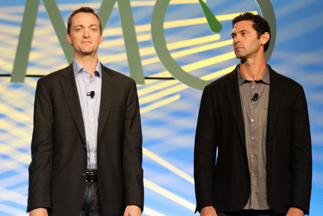 Jocktalk founders Brendon Kensel (left) and Shawn Green at DEMO Spring 2012