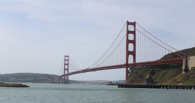 Photo of Golden Gate Bridge from Sausalito, Calif.