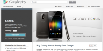 Google now selling unlocked Galaxy Nexus HSPA+ phone for $399