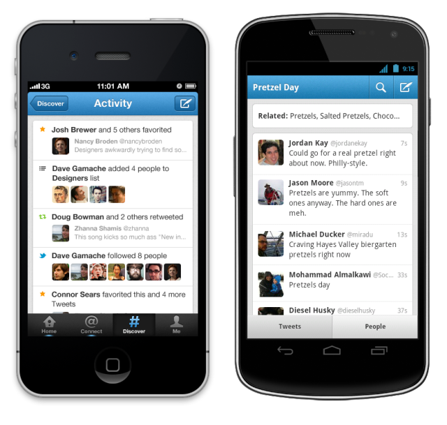 twitter for iphone, android