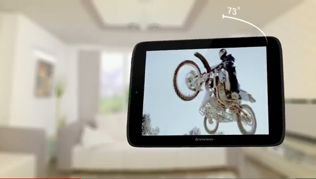 Screenshot from Lenovo's promotional video for the IdeaPad S2109, a new Android tablet