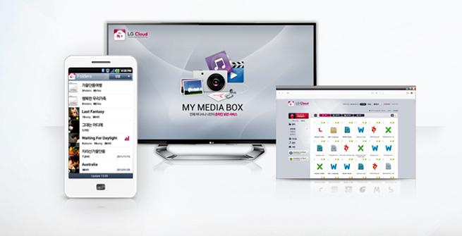 LG Cloud on mobile, web TV