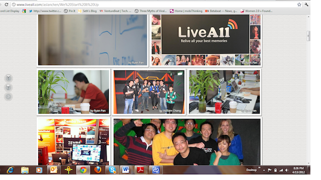 LiveAll Event Page