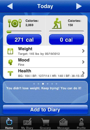 NeedToEat diet iPhone App