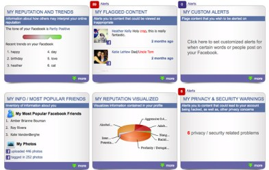 NetworkClean reputation dashboard Facebook