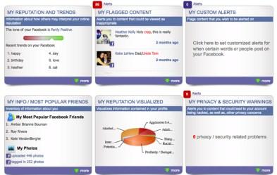 NetworkClean reputation dashboard Facebook