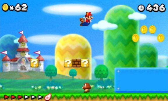 New Super Mario Bros. 2 flying