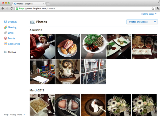Dropbox-Photos-Page