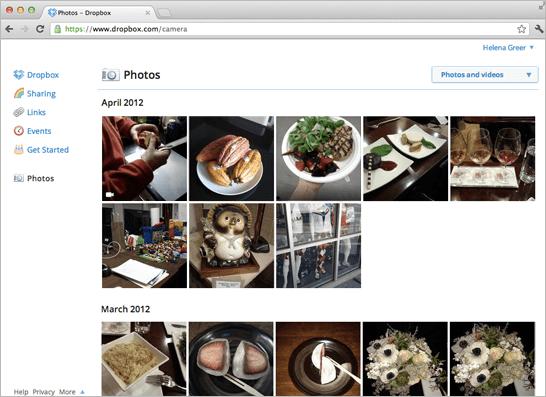 Dropbox-Photos-Page