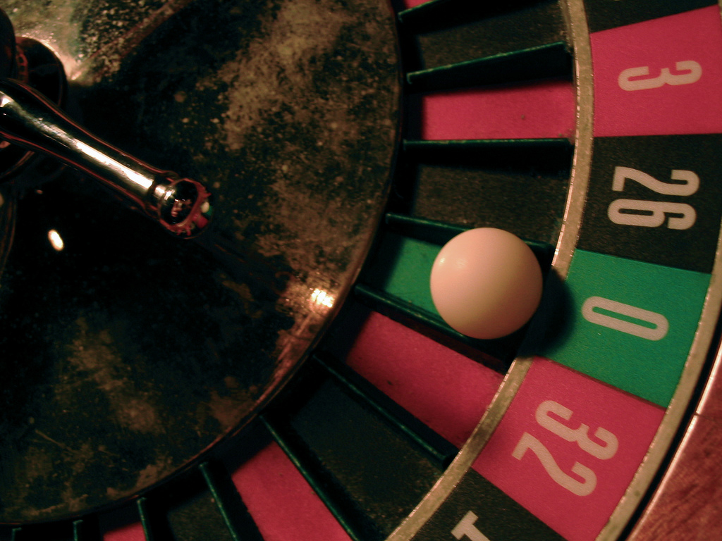 roulette wheel illustrates the risk of uncertainty in the future of technology
