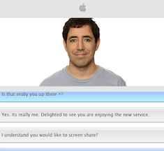 Apple customer representative