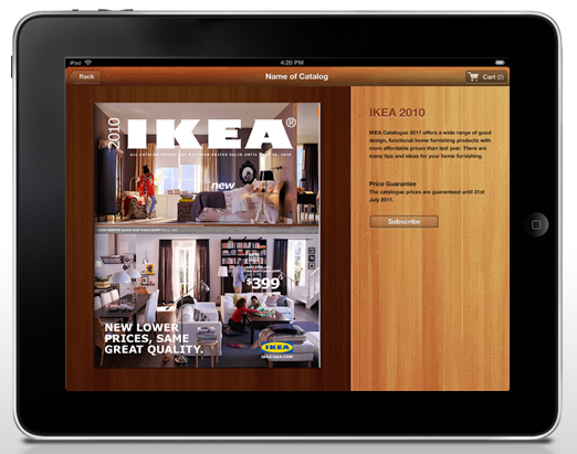 ipad retail catalog