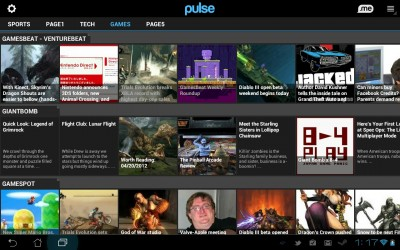 Android tablet app Pulse