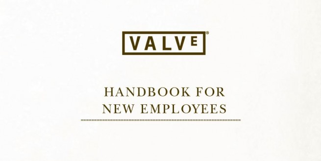 The cover of the Valve Handbook for New Employees
