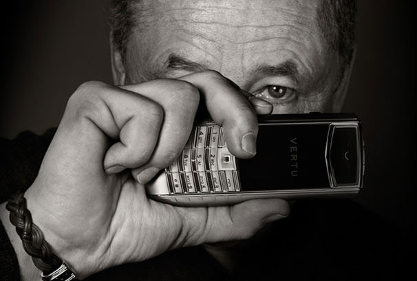 Vertu luxury phone and old man model