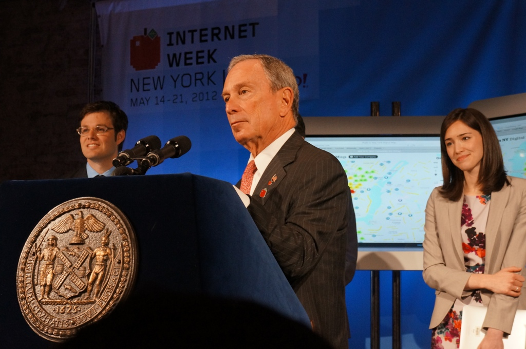 Mayor Bloomberg, Rachel Sterne at Internet Week