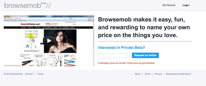 Browsemob has worked out some interesting economics but its marketing visuals are off the mark.