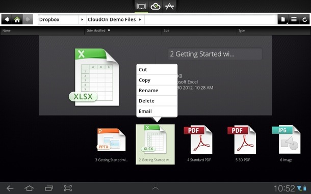 CloudOn Android app