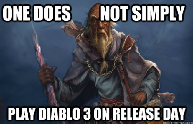 deckard in queue   one does not simply play diablo 3 on release day